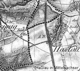 historischen Karte