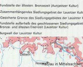 Siedlungsnachweise der Bronzezeit